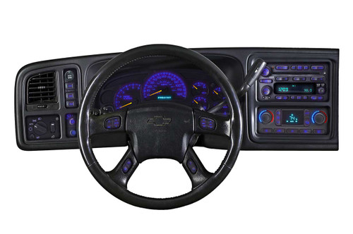 Blue LED Dash Lighting