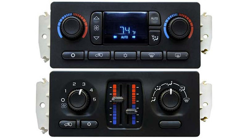Chevrolet Auto and Manual Slider Climate Control Modules