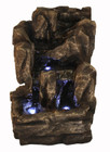 Natural Rock Tabletop Waterfall Fountain w/ LED Lights