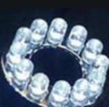 LED light ring 12 LEDs white