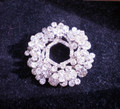 Large, Sparkly, Vintage Rhinestone Pin / Brooch