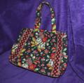 Black Floral Vera Bradley Handbag