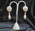 Vintage Rhinestone and Pearl Teardrop earrings