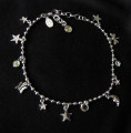 Vintage Kirks Folly Moon and Stars ankle bracelet