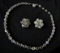 Vintage Crystal Choker Necklace and Earrings Set