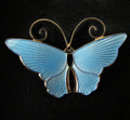 Vintage David Andersen of Norway Enamel Butterfly Pin