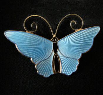 Vintage David Andersen of Norway Enamel Butterfly Pin