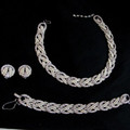 Vintage signed Ciner parure - necklace bracelet earrings set
