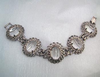 Vintage Celebrity Clear Cabochon Bracelet