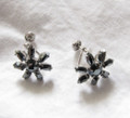 Signed Sorrento Sterling and Hematite Screwback Earrings