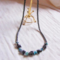 Hematite Bead and Turquoise Necklace