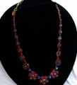 Sorelli Red Aurora Borealis Swarovsky Crystal Necklace
