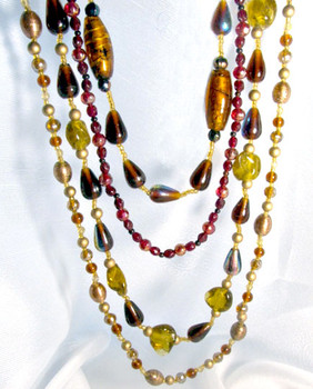 Art Glass Bead Necklace