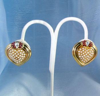 Joan Rivers Faux Pearl Earrings