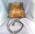 Vintage La Regale Gold Beaded Purse/ evening bag