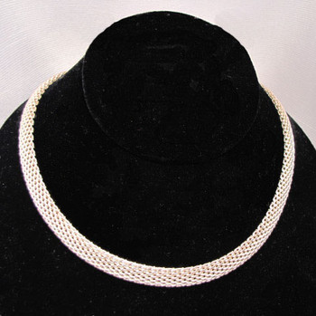 Geneva Chavez Sterling silver Mesh Necklace