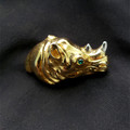 Signed Judith Leiber Rhinoceros Pin