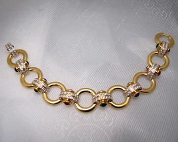 Joan Rivers Multi-Stone Link Bracelet