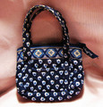 Vera Bradley Navy Mini Tote Bag