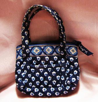 Vera Bradley Navy Mini Tote Bag
