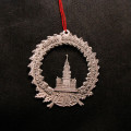 Signed Nicholas Gish Pewter Christmas Ornament