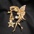 Vintage Kirks Folly crystal Fairy pin