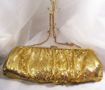 Steve Madden Gold Mesh Handbag