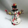 Vintage enamel Lenox Snowman Pin