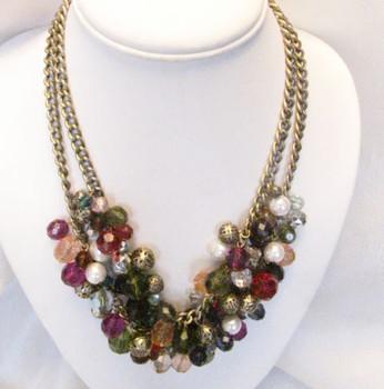 Vintage Signed SHA Bead Necklace