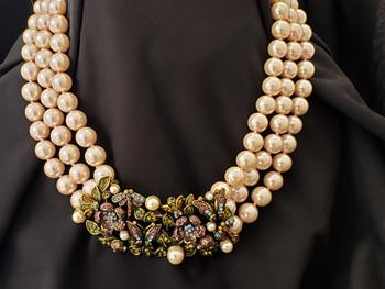 Heidi Daus Blush Pink Secret Garden Necklace