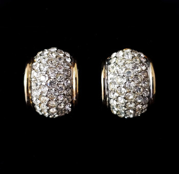Designer Joan Rivers Crystal Clip Earrings