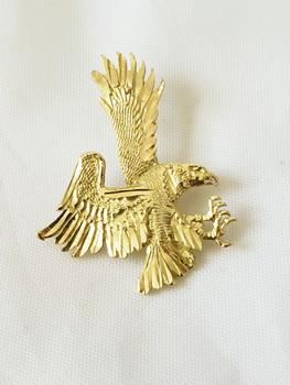 14 KT (14 K) Gold Eagle Charm - Front