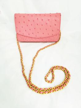 Annie's Eye Pink Ostrich Crossbody Bag