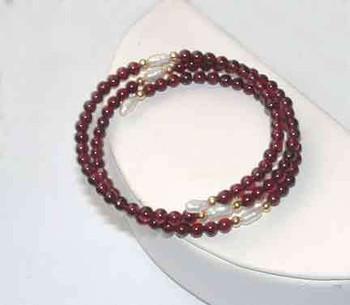 Garnet Bead Bracelet