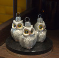 Mini. White Owls (set of 3)