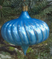 Pendant Spiral Turnip Blue