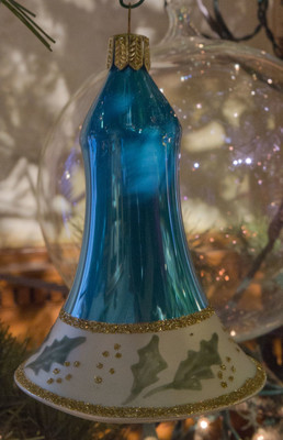 """Ring in"" the season with this festive bell ornament.  4 inches"