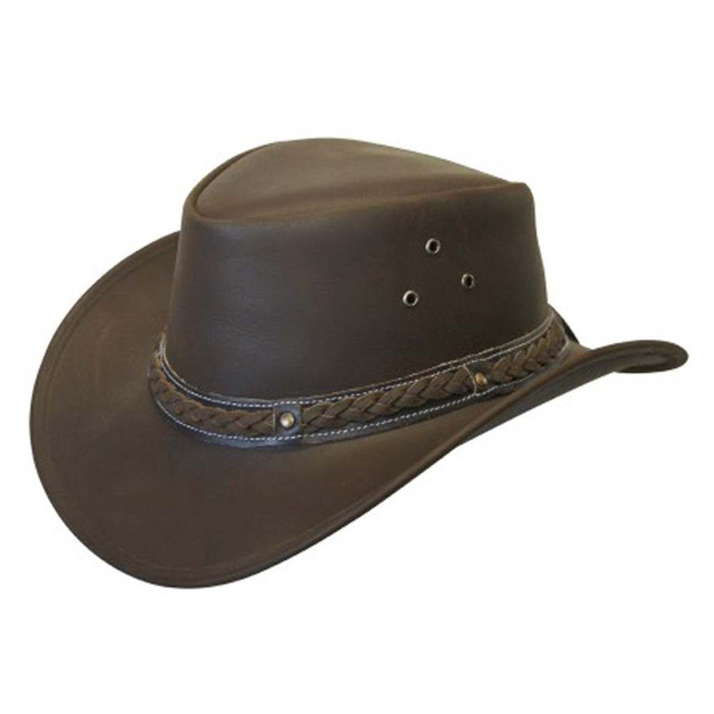Conner | Down Under Leather Outback Hat | Hats Unlimited