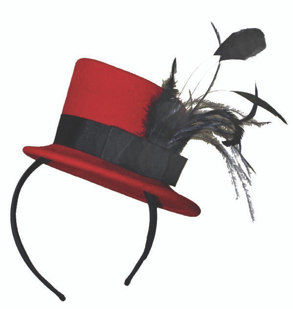 Jeanne Simmons   Red Fascinator Hat   Hats Unlimited