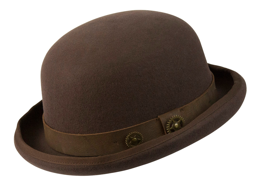 Conner   Steam Punk Bowler w/Leather Band   Hats Unlimited