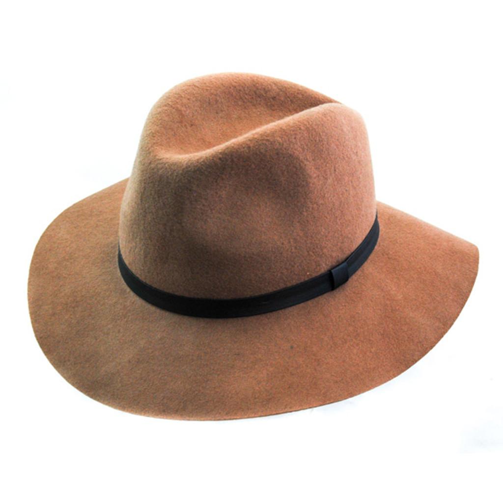 Jeanne Simmons   Wool Felt Floppy Fedora Hat   Hats Unlimited