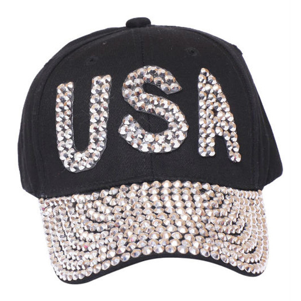 Something Special - Black USA Bedazzle Jewel Cap