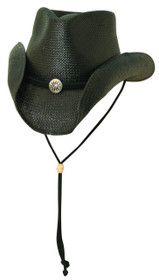 Scala - Black Soft Toyo Western Hat