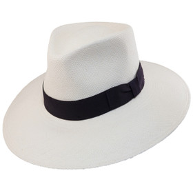 Bigalli - Australian Panama Hat with Black Ribbon