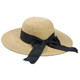Dynamic Asia - Raffia Sun Hat with Ribbon Bow Main