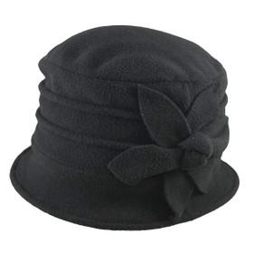Jeanne Simmons - Fleece Cloche Hat Black