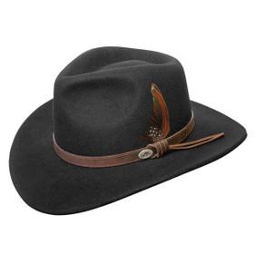 Conner - Aussie Wool Crusher Hat Black