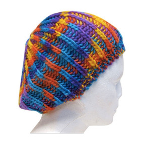 Downtown Style - Space Dyed Knit Beret - Rainbow