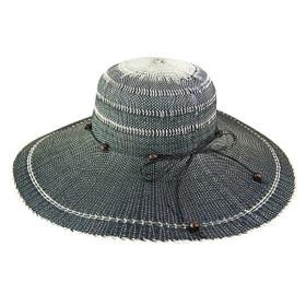 Boardwalk Style - Black Two-Tone Toyo Sun Hat