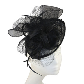 Jeanne Simmons - Three Flower Dish Headband Black
